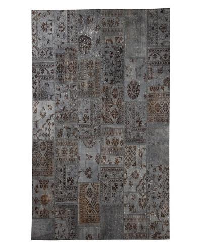 Azra Imports Overdyed Vintage Patchwork Rug [Grey]