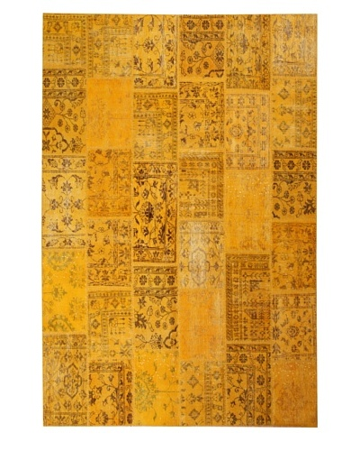 Azra Imports Overdyed Vintage Patchwork Rug [Yellow]