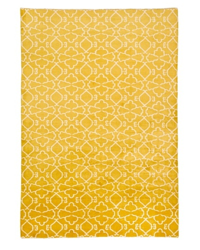 Azra Imports Vogue Rug, Lemon/Ivory, 5' 5 x 8'
