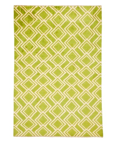 "Azra Imports Vogue Rug, Green/Ivory, 5' 3"" x 7' 10"""
