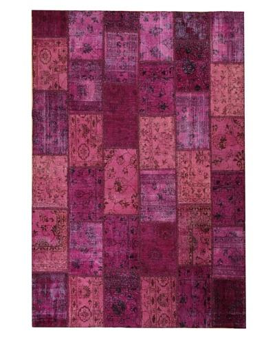 Azra Imports Overdyed Vintage Patchwork Rug [Purple]