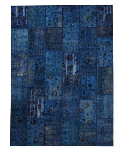 Azra Imports Overdyed Vintage Patchwork Rug [Royal Blue]