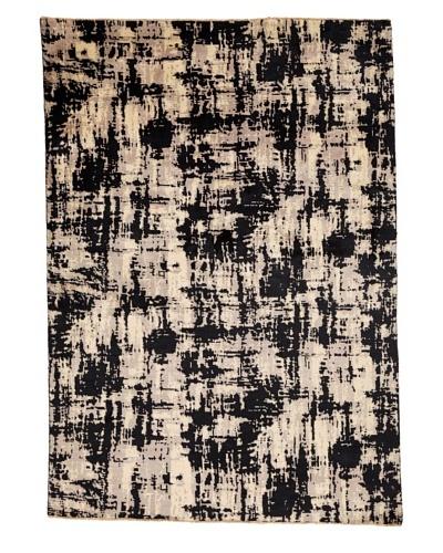 Azra Imports Vogue Rug, Black/Ivory, 5' 4 x 7' 7