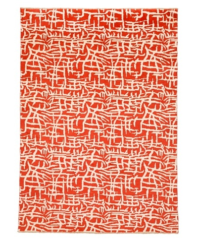 Azra Imports Vogue Rug, Red/Ivory, 5' 3 x 7' 5