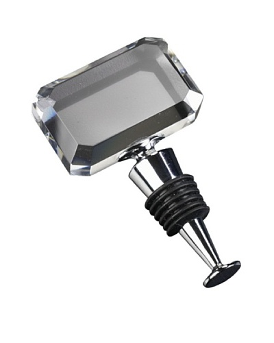 Badash Crystal Handcrafted Rectangle Crystal Wine Stopper