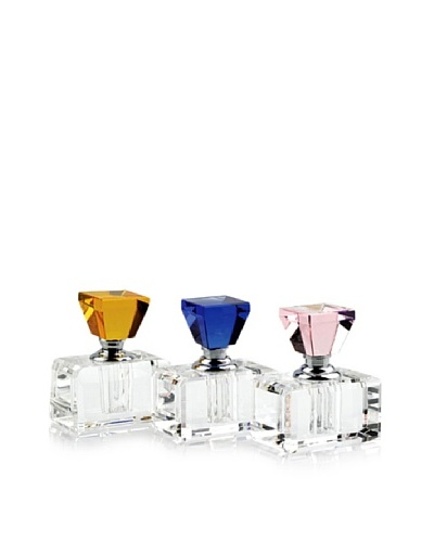 Badash Crystal 3-Piece Rainbow Perfume Set