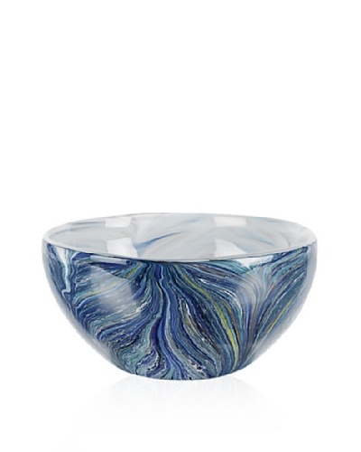 Badash Crystal Art Glass Renoir Bowl, Blue Multi