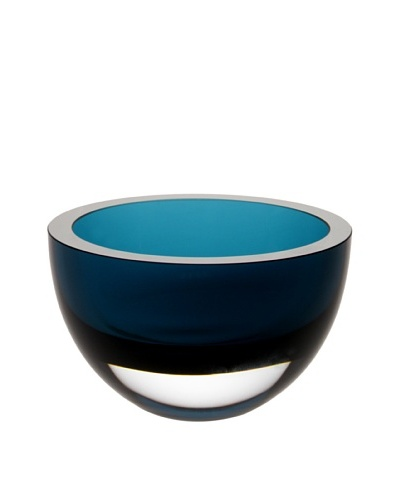 Badash Crystal Penelope 6 Bowl, Peacock Blue