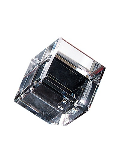 Badash Crystal Handcrafted Optical Crystal Cube Paperweight