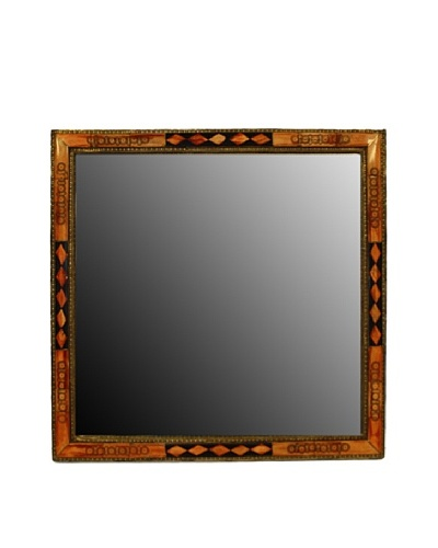 Badia Design Square Bone Mirror, Orange