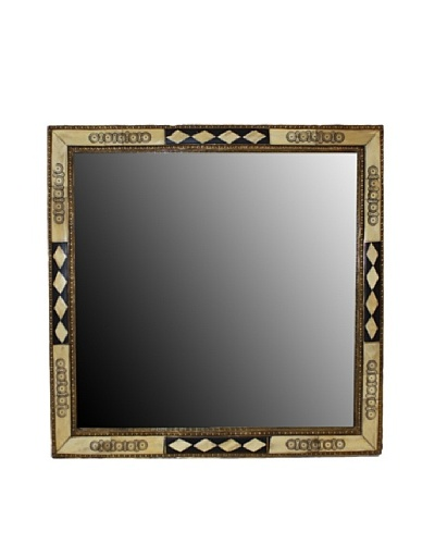 Badia Design Square Bone Mirror, Beige