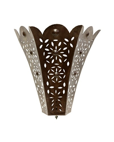 Badia Design Wall Mounted Iron Sconce, Brown