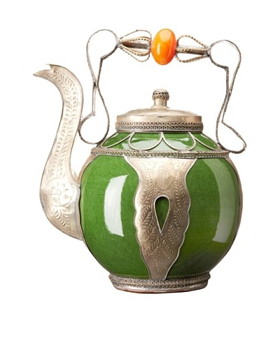 Badia Design Decorative Ceramic Teapot, Green