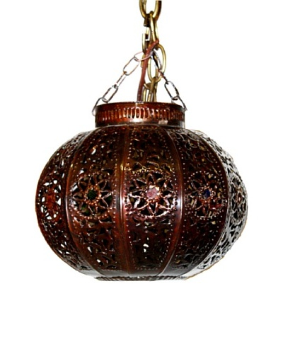 Badia Design Dark Tin Antique Round Shade, Brown