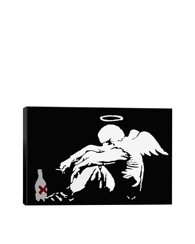 Banksy Drunken Angel 2 Giclée Canvas Print