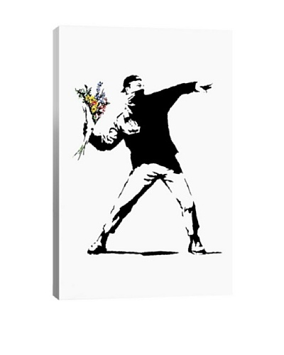 Banksy Rage, Flower Thrower Giclée Canvas Print