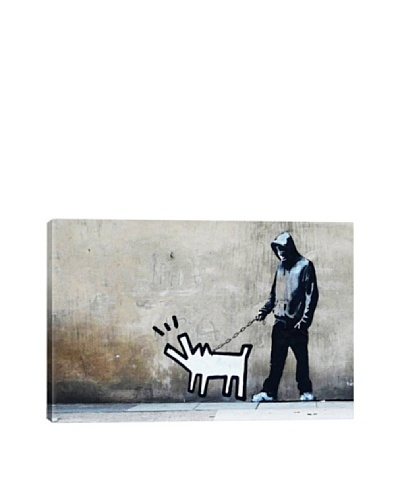 Banksy Choose Your Weapon Keith Haring Dog Giclée Canvas Print