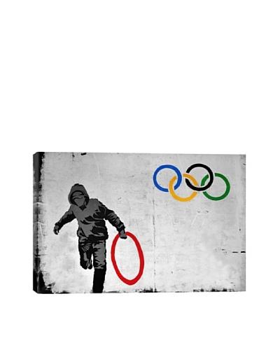 Banksy Olympics Stolen Ring Street Art Ultrachrome Canvas Print