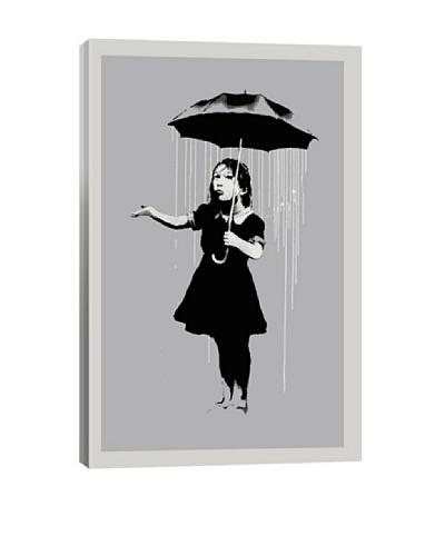 Banksy Nola Girl With Umbrella Ultrachrome Canvas Print