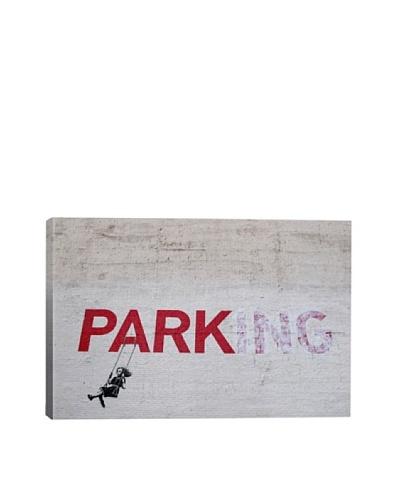 Banksy Parking Girl Swing Giclée Canvas Print