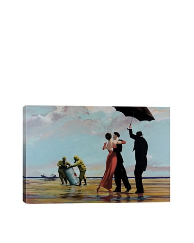 Banksy Dancing Butler On Toxic Beach Crude Oil Ultrachrome Canvas Print
