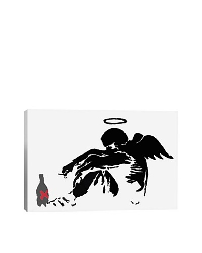 Banksy Drunken Angel 1 Giclée Canvas Print