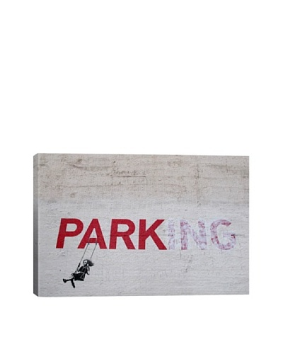 Banksy Parking Girl Swing Ultrachrome Canvas Print