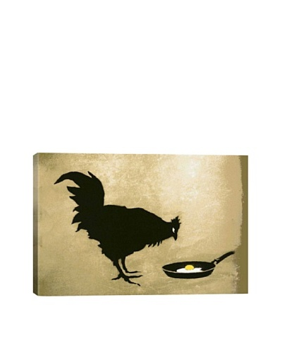 Banksy Chicken and Egg Ultrachrome Canvas Print
