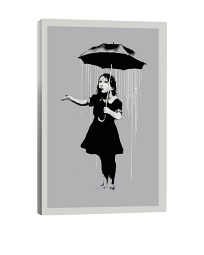 Banksy Nola Girl With Umbrella Giclée Canvas Print