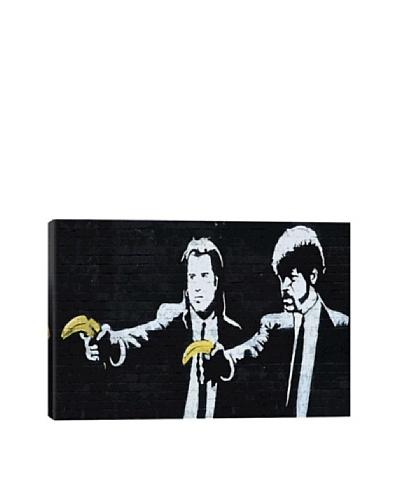 Banksy Pulp Fiction Bananas Ultrachrome Canvas Print