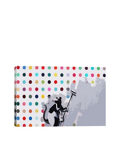 Banksy Rat Spots Damien Hirst Giclée Canvas Print