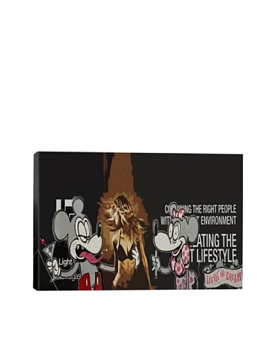 Banksy Living the Dream Giclée Canvas Print