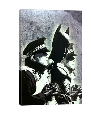 Banksy Batman and The Police Giclée Canvas Print