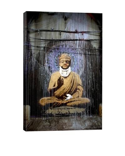 Banksy Injured Buddha Giclée Canvas Print