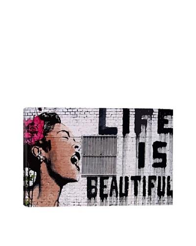 Banksy Life Is Beautiful Giclée Canvas Print