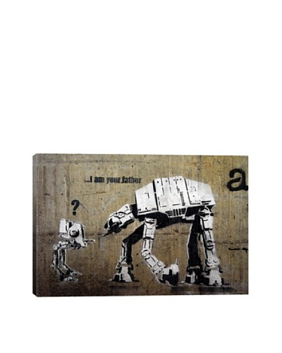 Banksy I Am Your Father, Giclée Canvas Print