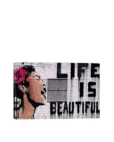 Banksy Life Is Beautiful Ultrachrome Canvas Print
