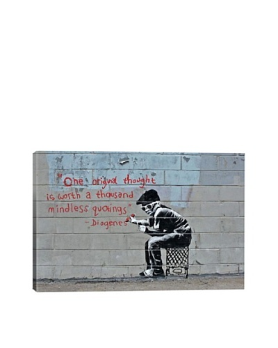 Banksy One Original Thought Worth a Thousand Quotings Giclée Canvas Print