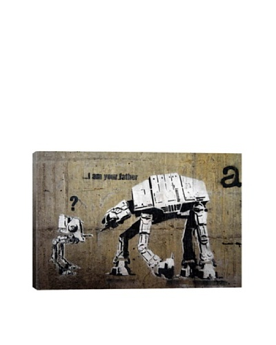 Banksy I Am Your Father Ultrachrome Canvas Print
