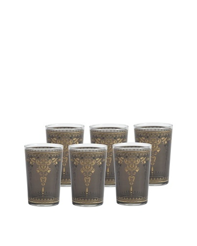 Barclay Butera Set of 6 Moroccan Tea Glasses, Tangier Smoke