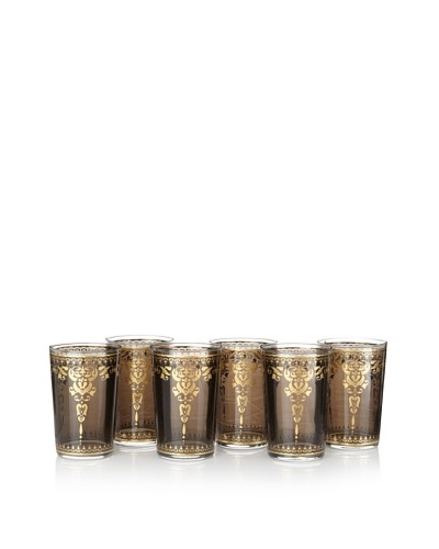 Barclay Butera Set of 6 Moroccan Tea Glasses, Tangier Smoke