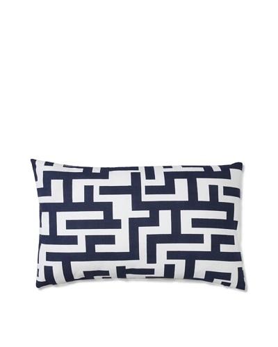 Barclay Butera Seaside 12 x 20 Geometric Throw Pillow [White/Navy]