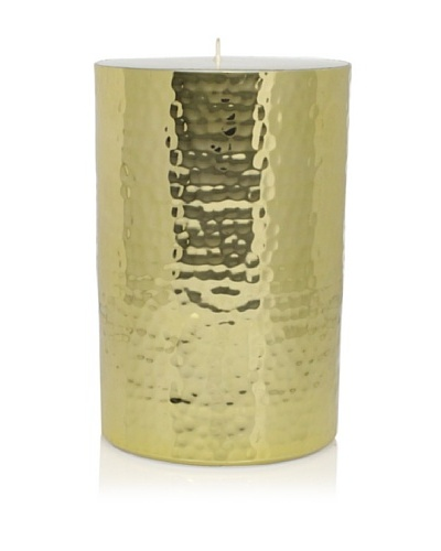 Barclay Butera Naoura Hammered Metal Pillar Candle, Gold, 6As You See