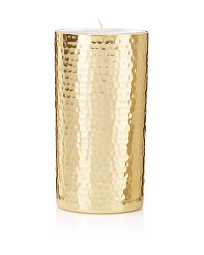 Barclay Butera Naoura Hammered Metal Pillar Candle