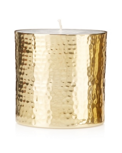 Barclay Butera Naoura Hammered Metal Pillar CandleAs You See