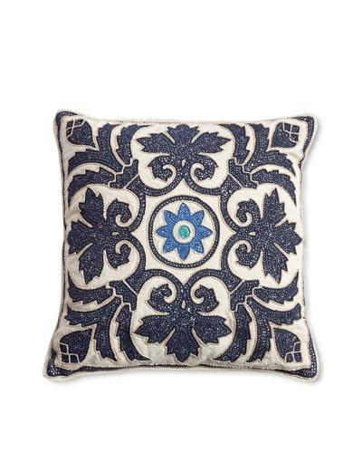 """Barclay Butera Salé Throw Pillow, Blue, 16"""" x 16"""""""