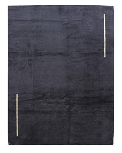 Bashian Fine Tibetan Silk & Wool Rug, Black, 8' x 10' 3