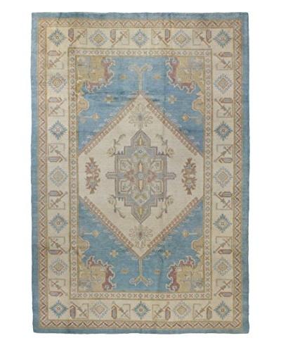 Bashian Rugs Pak Kazak Rug, Light Blue, 6' x 9'