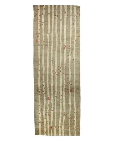 Bashian Tibetan Rug, Moss, 4' 2 x 12' Runner