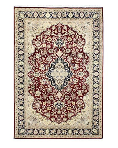 Bashian Rugs Pakistan Kashan Rug, Red, 6' 7 x 9' 10